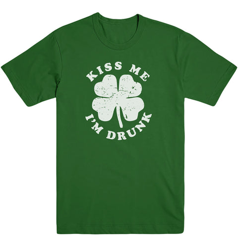 Kiss Me I'm Drunk [FREE CODE: IRISH] Men's Tee