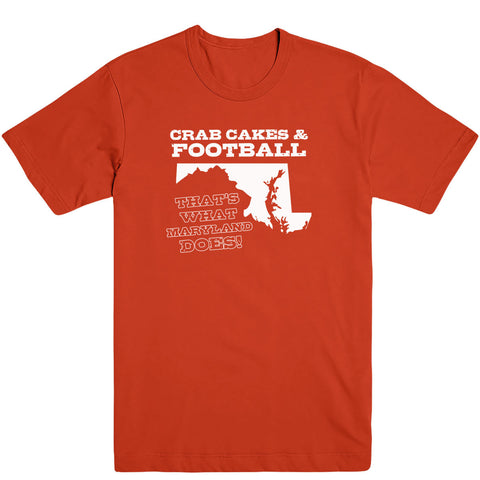 Crab Cakes & Football Men's Tee