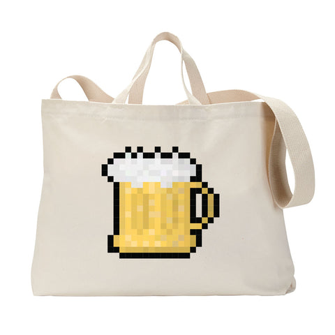 Drinking Pixels Tote Bag