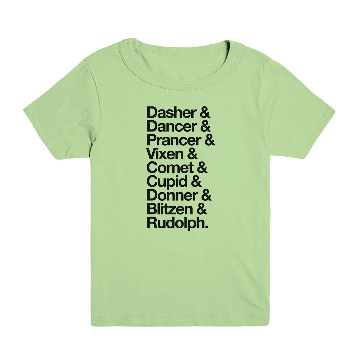 Reindeer Names Kid's Tee