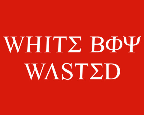 White Person Wasted Tee