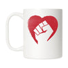 Hearts and Fists Mug