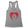 Hearts and Fists Women's Racerback Tank