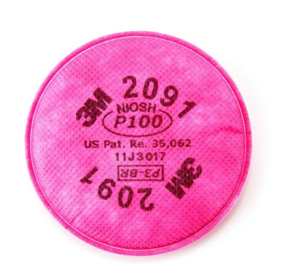 (Pack of 6) 3M 2091 P100 Particulate Filter, 1 Pair Per Pack