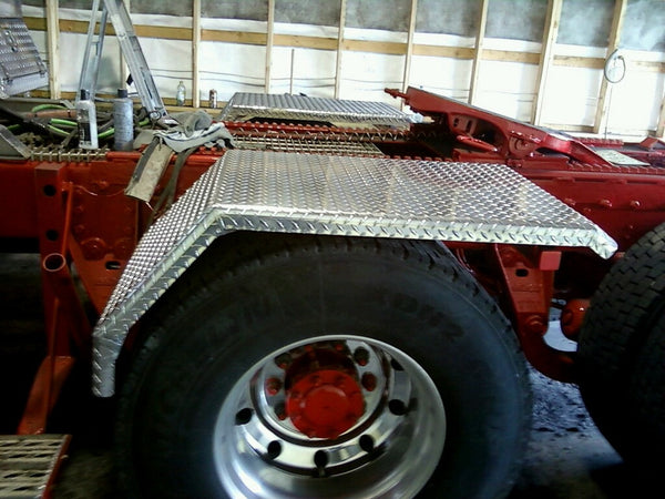 polished Diamond plate Fenders