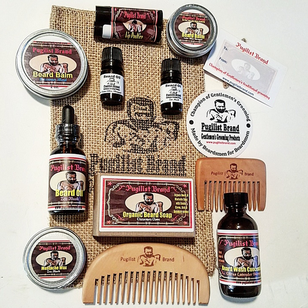 custom beard care products kit pugilist brand beard care mustache wax gentlemen 39 s. Black Bedroom Furniture Sets. Home Design Ideas