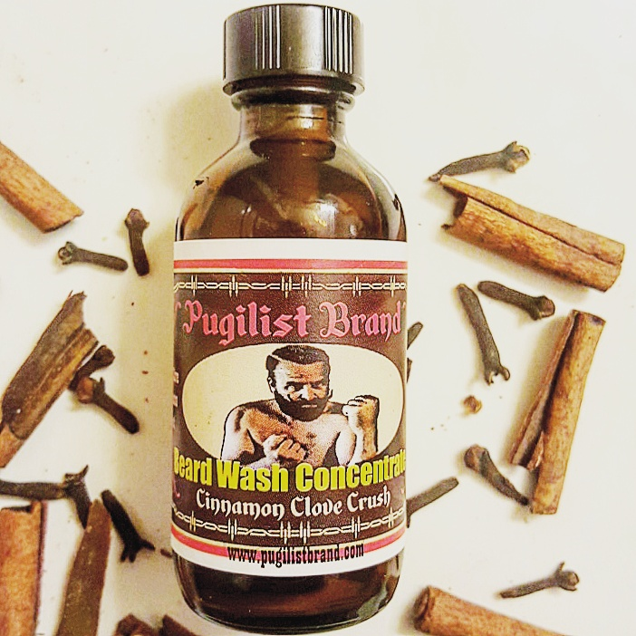 Beard Wash Concentrate - Cinnamon Clove Crush - Pugilist Brand - Beard Care, Mustache Wax & Gentlemen's Grooming Products - 1