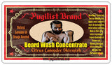 Beard Wash Concentrate - Citrus Lavender Skirmish - Pugilist Brand - Beard Care, Mustache Wax & Gentlemen's Grooming Products - 2