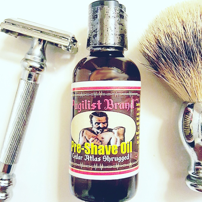 Pre-shave Oil - Cedar Atlas Shrugged - Pugilist Brand - Beard Care, Mustache Wax & Gentlemen's Grooming Products - 1