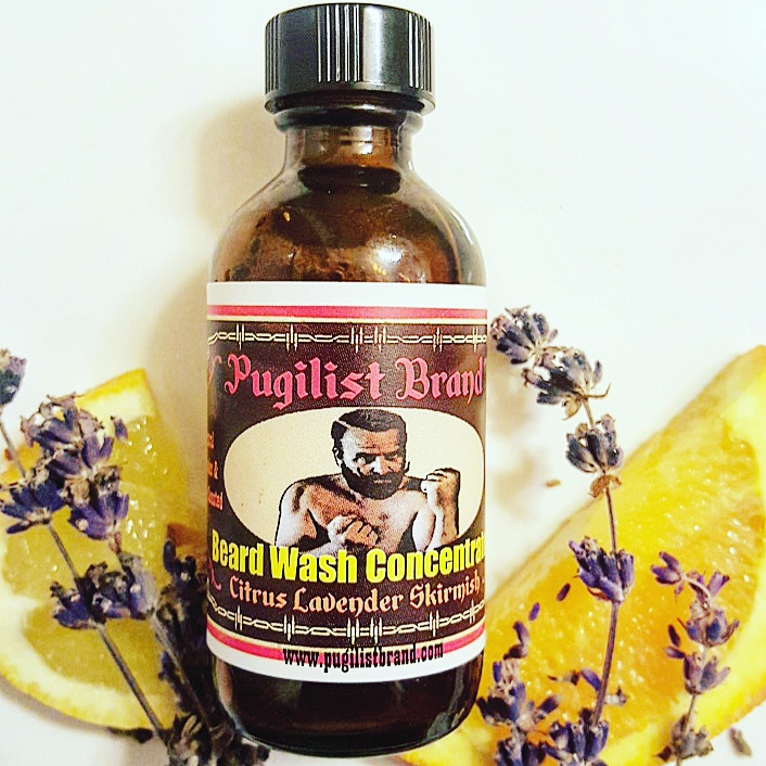 Beard Wash Concentrate - Citrus Lavender Skirmish - Pugilist Brand - Beard Care, Mustache Wax & Gentlemen's Grooming Products - 1