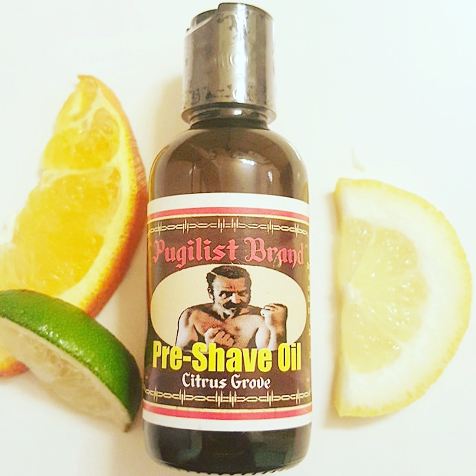 Pre-shave Oil - Citrus Grove - Pugilist Brand - Beard Care, Mustache Wax & Gentlemen's Grooming Products - 1