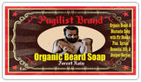 Organic Beard Soap  - Forest Rain - Pugilist Brand - Beard Care, Mustache Wax & Gentlemen's Grooming Products - 4