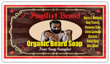 Organic Beard Soap - Four Soap Sampler - Pugilist Brand - Beard Care, Mustache Wax & Gentlemen's Grooming Products - 5