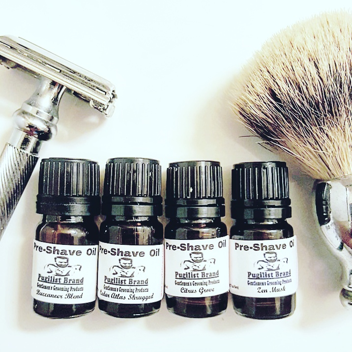 Pre-Shave Oil K.O. Sampler Pack - Pugilist Brand - Beard Care, Mustache Wax & Gentlemen's Grooming Products - 1
