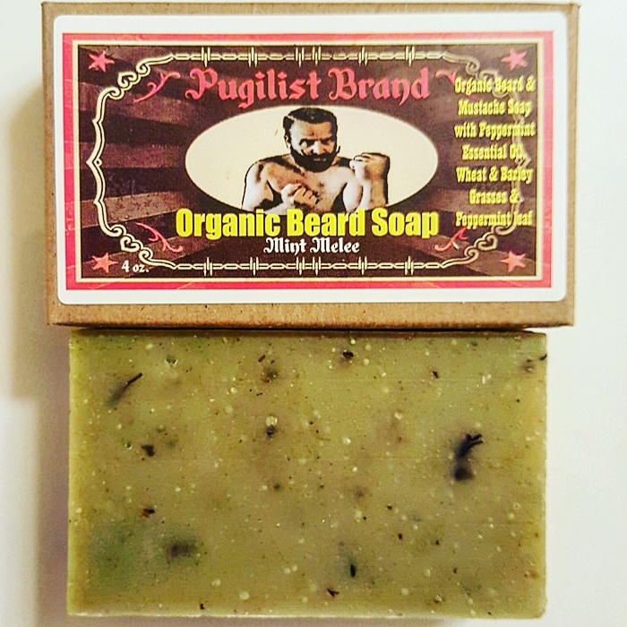 Organic Beard Soap - Mint Melee - Pugilist Brand - Beard Care, Mustache Wax & Gentlemen's Grooming Products - 1