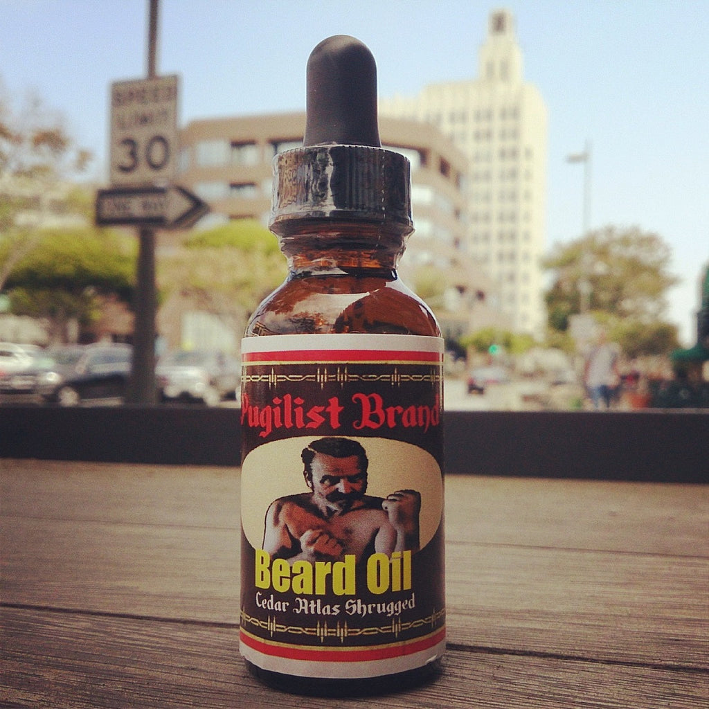 Original Beard Oil - Cedar Atlas Shrugged - Pugilist Brand - Beard Care, Mustache Wax & Gentlemen's Grooming Products - 1