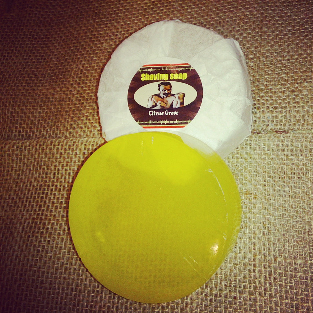 Shaving Soap - Citrus Grove - Pugilist Brand - Beard Care, Mustache Wax & Gentlemen's Grooming Products - 1