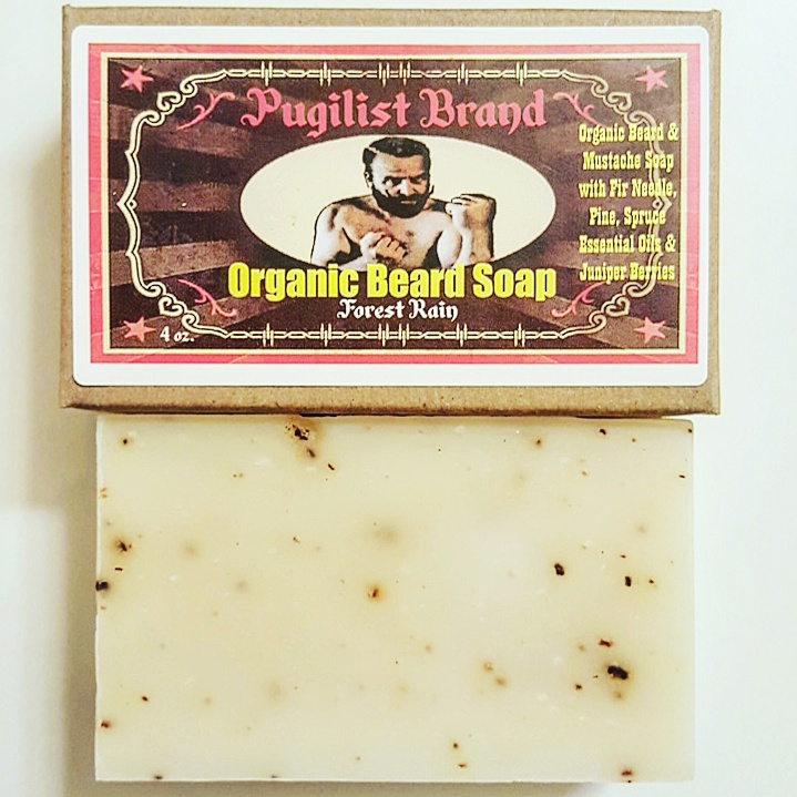 Organic Beard Soap  - Forest Rain - Pugilist Brand - Beard Care, Mustache Wax & Gentlemen's Grooming Products - 1