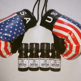 Pre-Shave Oil K.O. Sampler Pack - Pugilist Brand - Beard Care, Mustache Wax & Gentlemen's Grooming Products - 3