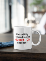 "Kaffeebecher/Tasse Keramik mit lustigem Spruch ""MOTIVATION"""