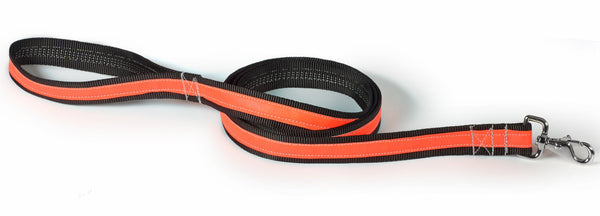 orange/black reflective leash