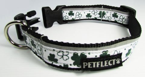 Shamrock Reflective dog collar