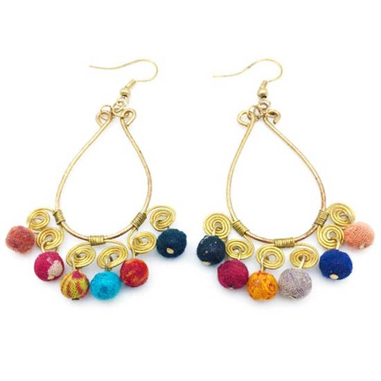 Earrings - Aasha Beads and Swirls