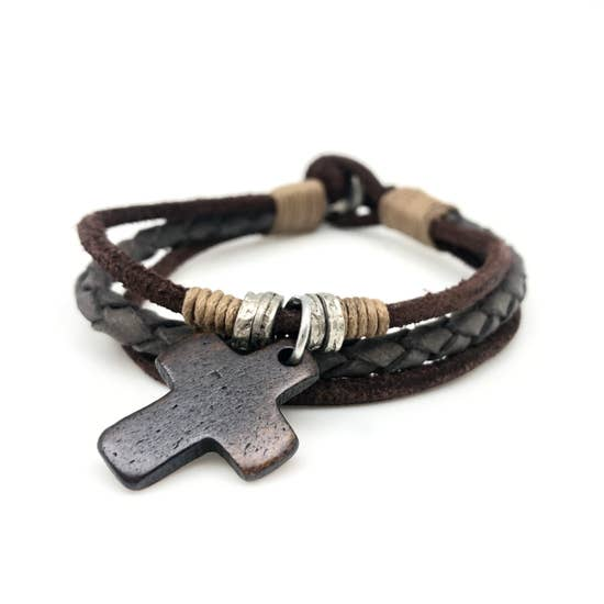 Men's Bracelet - wooden cross