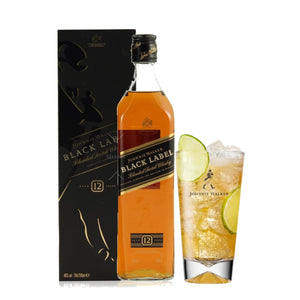 Johnnie Walker Black 1L + vaso
