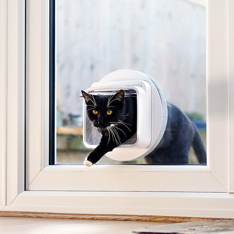 Sureflap Microchip Cat Flap Dualscan Connect With WiFi Hub -App Controlled Cat flap - Cat Out Of House.co.uk