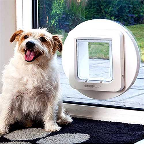 Sureflap Pet Door Mounting Adaptor White - Must have for glass & wall installation - Cat Out Of House.co.uk