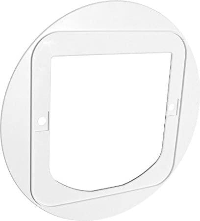 SureFlap Cat Flap Mounting Adaptor, White - Must For Glass & Wall Installation - Cat Out Of House.co.uk
