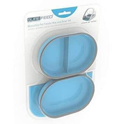 Mat and Bowl Set Blue - For SureFeed Pet Feeder By Sureflap - Cat Out Of House.co.uk