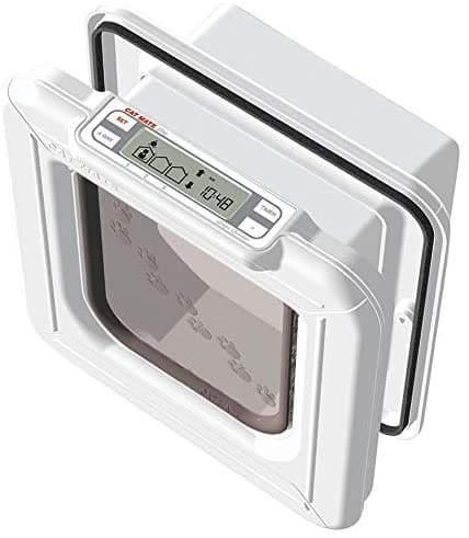 Cat Mate Elite Microchip Cat Flap with Timer Control- Program When Your Cat Enters & Leaves The Home - Cat Out Of House.co.uk