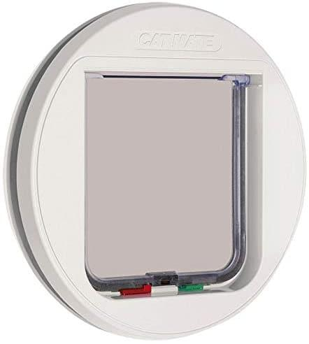 Cat Mate Classic 4 Way Locking Cat Flap, White, Standard Traditional Cat Flap - Cat Out Of House.co.uk