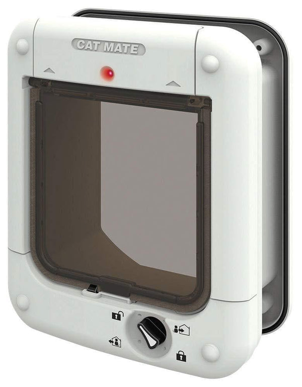 Cat Mate 360W Microchip Cat Flap – White - Operated By Your Cat's Unique Implanted Identification Microchip - Cat Out Of House.co.uk