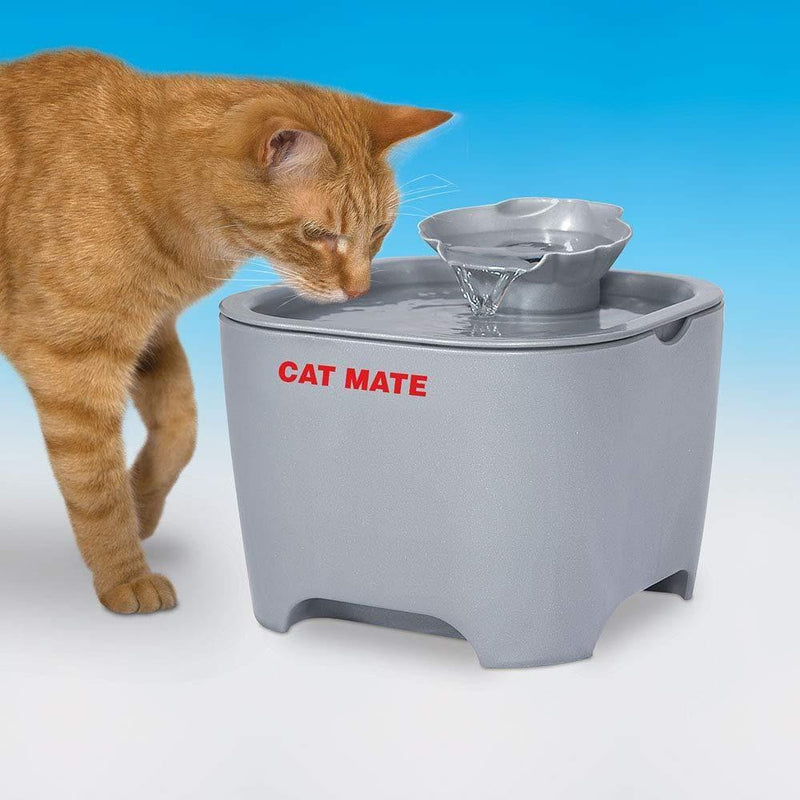 Cat Mate - Shell Pet Fountain, Titanium - Cat Out Of House.co.uk