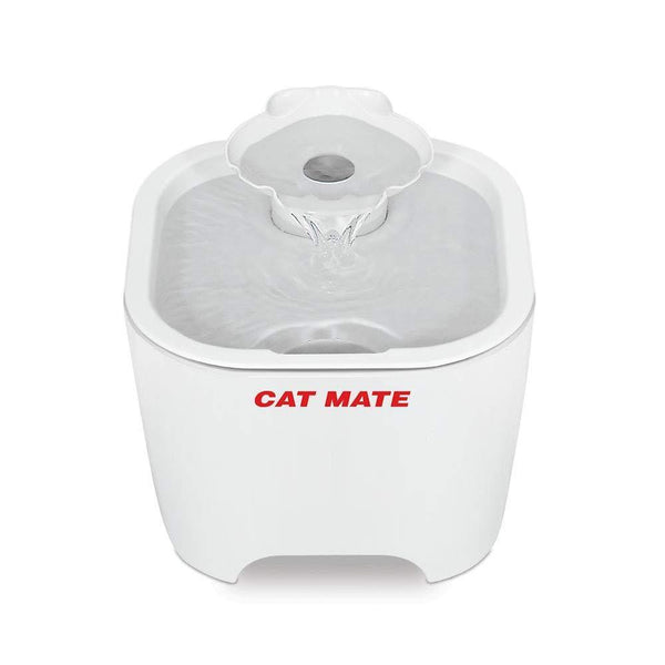 Cat Mate - Shell Pet Fountain, White - Cat Out Of House.co.uk