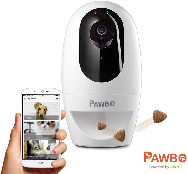 Pawbo - Plus Interactive Pet Camera powered By ACER: Smart WiFi HD Video Camera With 2-Way Audio, Treat Dispenser With Dog And Cat Laser Pointer - Cat Out Of House.co.uk