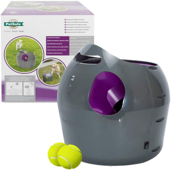 PetSafe - Automatic Ball Launcher Dog Toy, Interactive Tennis Ball Throwing Machine For Dogs, Water Resistant - Cat Out Of House.co.uk