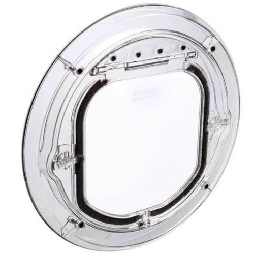 Clear Transparent Cat Flap -  Authentic Pet Tek G-SDDC Maxi Dual Glaze Clear Pet Door - Cat Out Of Glass - Cat Out Of House.co.uk