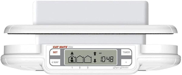 Cat Mate Elite Microchip Cat Flap with Timer Control- Cat Out Of Glass - Cat Out Of House.co.uk