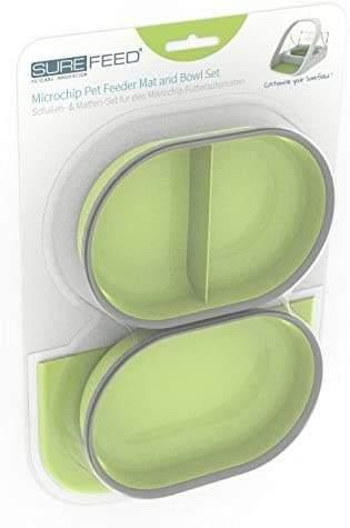 Mat and Bowl Set Green - For SureFeed Pet Feeder By Sureflap - Cat Out Of House.co.uk