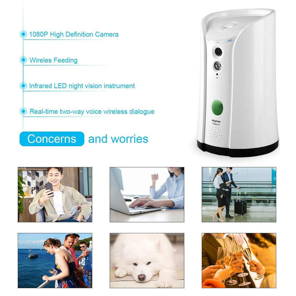 SKYMEE Dog Camera Treat Dispenser, WiFi Remote Pet Camera. - Cat Out Of House.co.uk