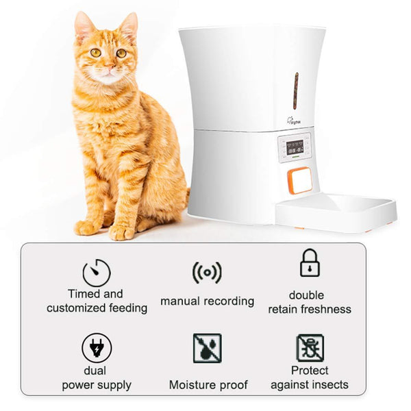 SKYMEE 8L Petreat AI Automatic Pet Feeder Food Dispenser for Cat & Dog - Cat Out Of House.co.uk