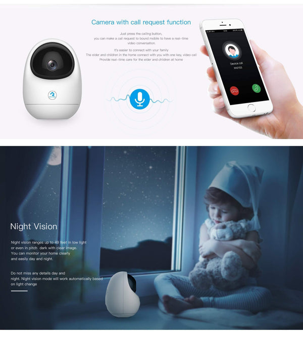 Clever dog Pan/Tilt Smart Security Wireless wifi ip Camera, - Cat Out Of House.co.uk