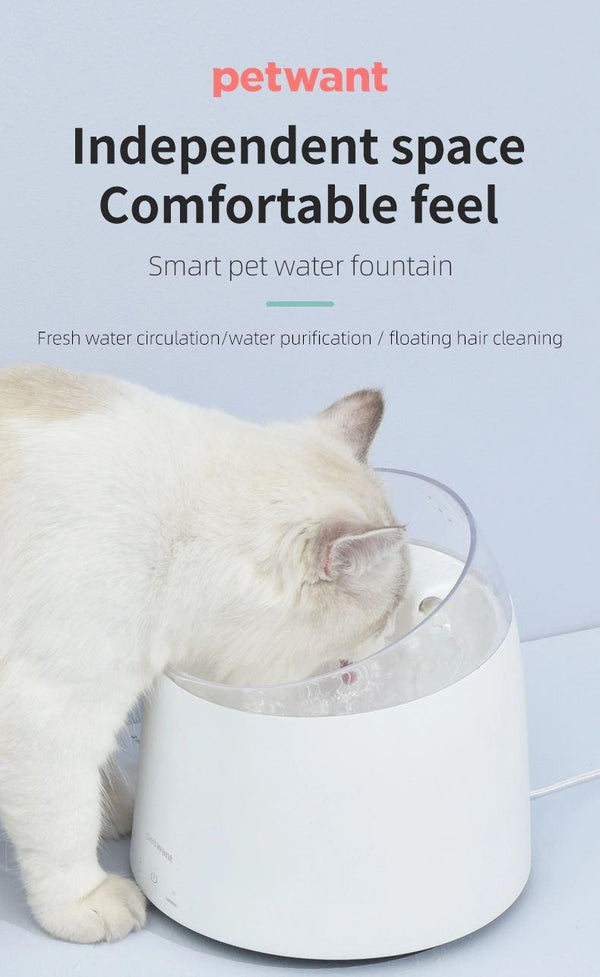Petwant -  Pet Water Fountain, Tilt & Vortex Water Design- for Cats & Dogs-  1.5Litre Capacity