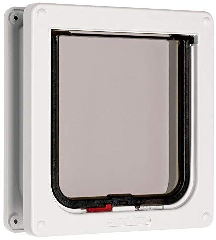 Cat Mate lockable cat flap with door liner 50mm, white