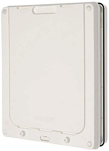 Dog Mate Lockable Medium Dog Door - White