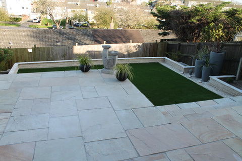 Plymouth Block Paving Marshalls Indian Sandstone Paving